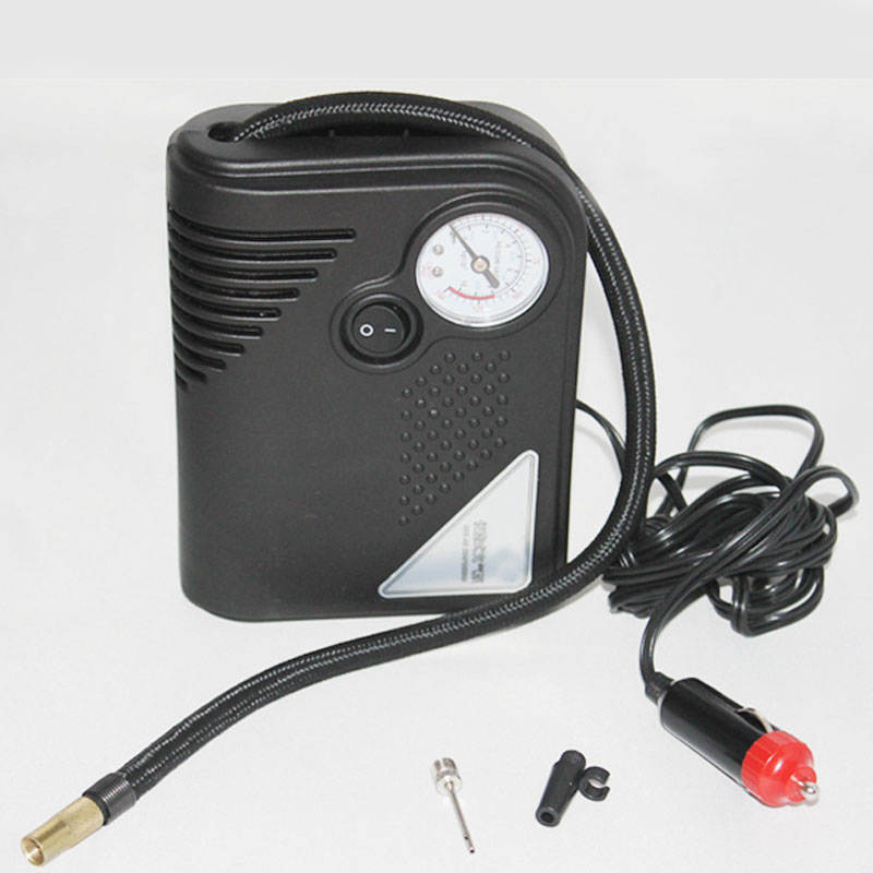 portable 12v auto air compressor tire inflator electric. Black Bedroom Furniture Sets. Home Design Ideas