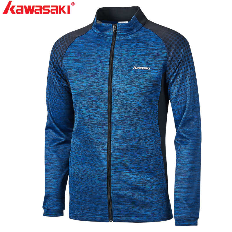 Kawasaki New Autumn Men Sports Jackets  Breathable Comfort Fitness Badminton Tennis Jackets Couple Models With Zipper JK-S1803