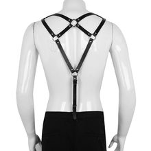 Men Leather Vest Harness Sexy Lingerie Male Triangle Back Strap Body Chest Half  Harness Garter Belts Erotic Dress Fetish Bondage