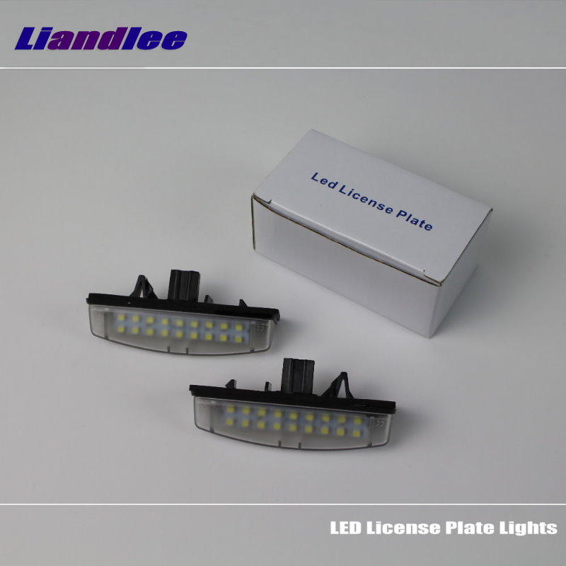 Liandlee For Toyota Avensis Verso 2001~2009 / LED Car License Plate Light / Number Frame Lamp / High Quality LED Lights