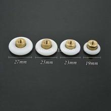 Free Shipping 8PCS Shower Door Roller /Runners/Wheels 19mm 23mm 25mm 27mm Wheel Diameter CP549