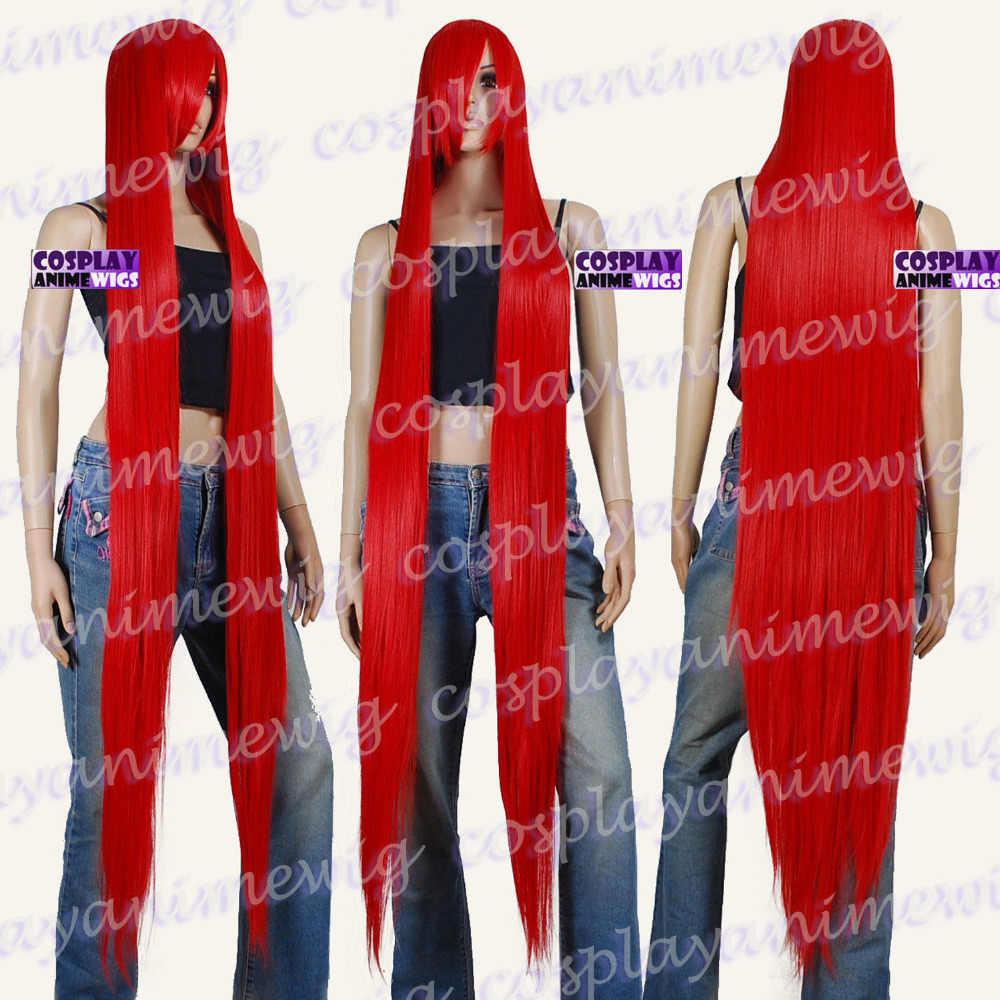 150 เซนติเมตรสีแดง Styleable Extra Super ยาวคอสเพลย์ Wigs 81_RED