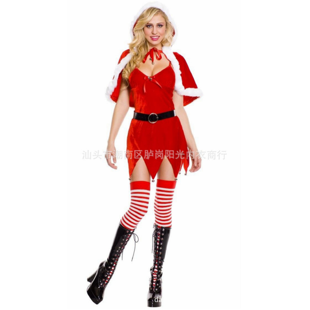 sexy christmas costumes women santa claus suit christmas clothes women sexy costumes women sexy lingerie hot - Christmas Clothes For Adults