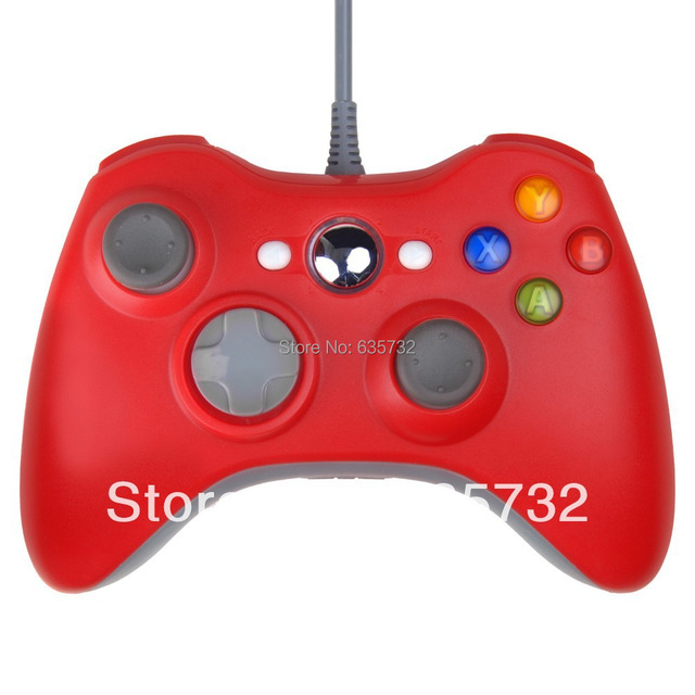 Wired Joypad Gamepad Controller for XBox 360 Slim Red