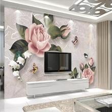 Retro rose sofa TV background wall custom high-end mural factory wholesale wallpaper mural photo wall цена 2017