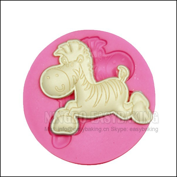 Cute Horse Pony Silicone Mould Cake Dekorere Silicone Mould For Fondant Candy Håndværk Smykker PMC Harpiks Clay