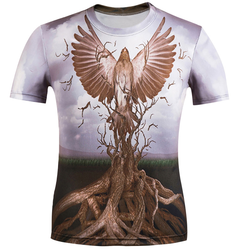 Eagle T Shirt Men 3D T-Shirts 2018 Summer Hip Hop Camisa Masculina Women Casual Tee Tops Unisex Drop Ship