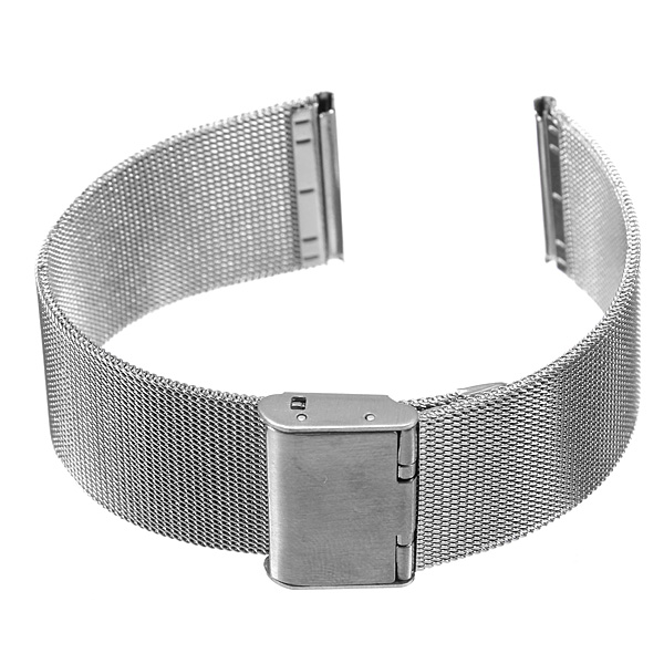 Hot Sale Silver 18mm 20mm 22mm 24mm Stainless Steel Watch Mesh Bracelets Straps Replacement WathBand hot sale silver stainless steel