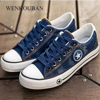 Women Sneakers Casual Canvas Shoes Denim Plus Size 34-44 Summer Female Stars Trainers Ladies Lace-up Basket Femme Tenis Feminino