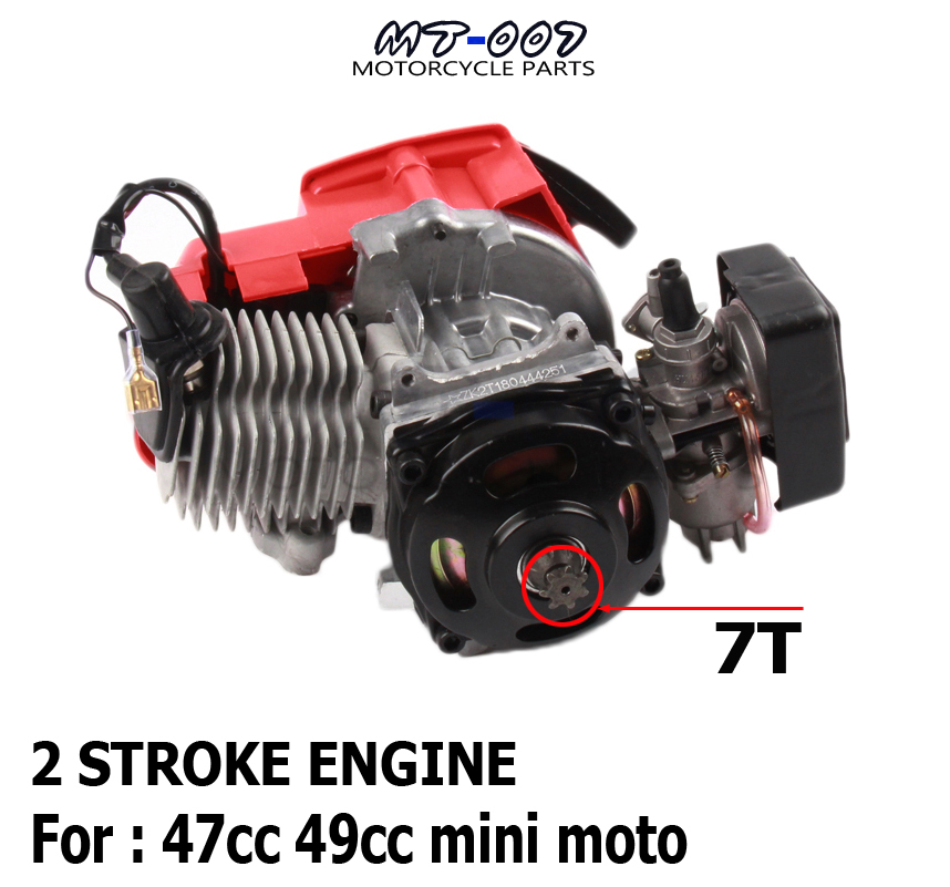 49cc Pocket Bike 2 Stroke Pull Start Engine For Mini Go Kart Dirt Bike Petrol Scooter ATV Pocket Bike Motor 49cc engine plastic pull start 15mm carburetor plastic mini moto pocket atv quad buggy dirt pit bike chopper gas scooter