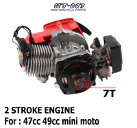 49cc Pocket Bike 2 Stroke Pull Start Engine For Mini Go Kart Dirt Bike Petrol Scooter ATV Pocket Bike Motor
