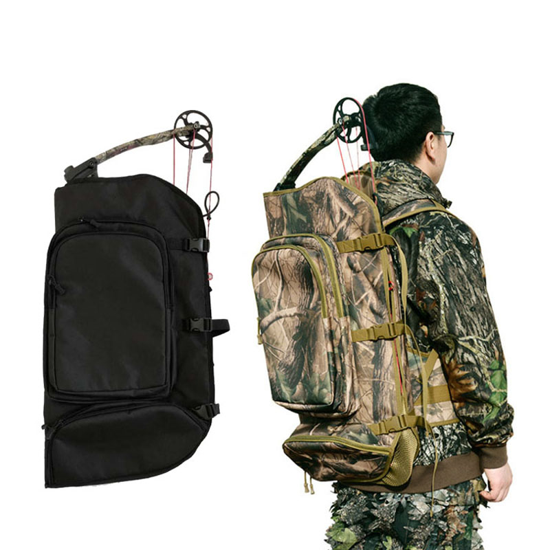 Archery Compound Bow Backpack Bag Paded Layer Form Bow Case Holder Bow Case Belt Storage Hunting