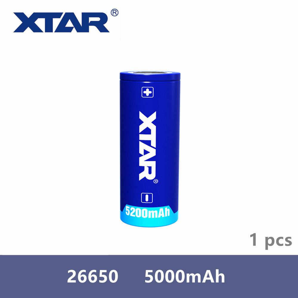 1 قطعة Xtar قابلة للشحن 26650 5200mAh 3.7V المحمية بطارية ل مشاعل متوافق مع MC1 MC2 PB2 VC2 VC4 SV2 شاحن