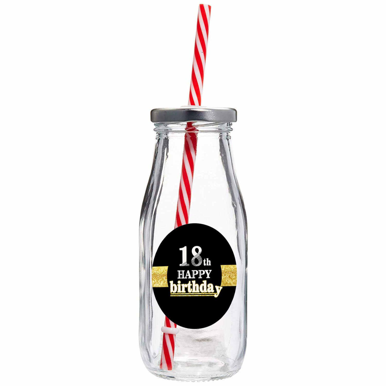 6 ชิ้น/เซ็ตสีดำ Gold Happy Birthday Cake Topper 18/21/30/40/50/60 ปีเก่า Cupcake สติกเกอร์สำหรับครบรอบ DIY ตกแต่ง