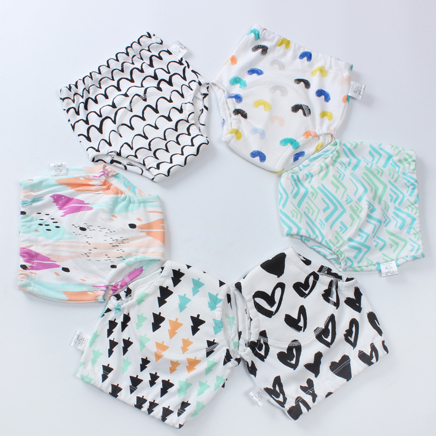 Fashion Ball Style Diaper Cover Shorts Baby Waterproof PUL Inter-layer training pants
