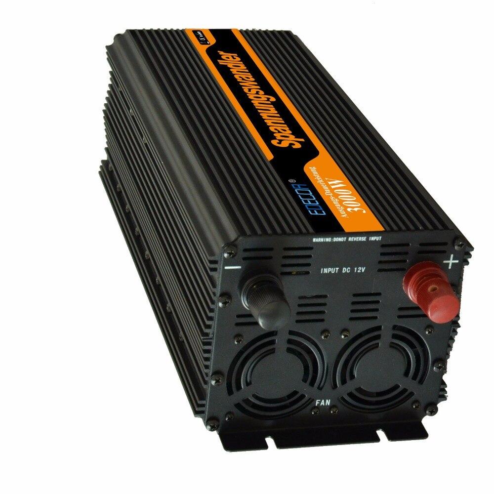 Гибридный солнечный инвертор EDECOA 3000 Вт 6000 Вт 12 В 24 В до 220 В 230 в модифицированный синусоидальный инвертор с пультом дистанционного управления Бесплатная доставка