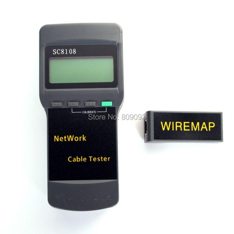 Sans fil Portable SC8108 LCD affichage sans fil réseau câble testeur mètre RJ45 LAN câble téléphone ligne testeur