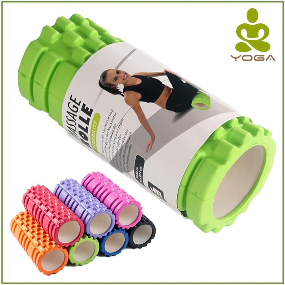 33x14cm Short EVA Foam Yoga Fitness Equipment Roller Blocks Pilates for Home Gym Exercises Physio Massage