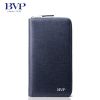 BVP High Quality Men's Handbag Details Business Top Genuine Leather Day Clutch Handbag Checkbook ID Card Wallet Purse Organizer