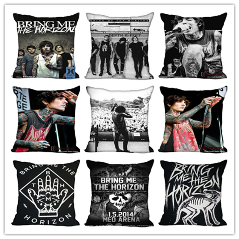 Custom Bring Me The Horizon Square Pillowcase Custom Zippered Bedroom Home Pillow Cover Case 1pcs Custom 40x40cm