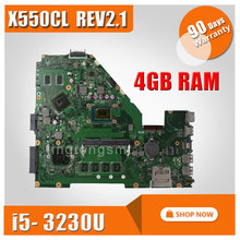 X550CL Laptop motherboard For Asus fit X550VB X550CC Mainboard REV2.1 With i5-3230U Processor fully tested