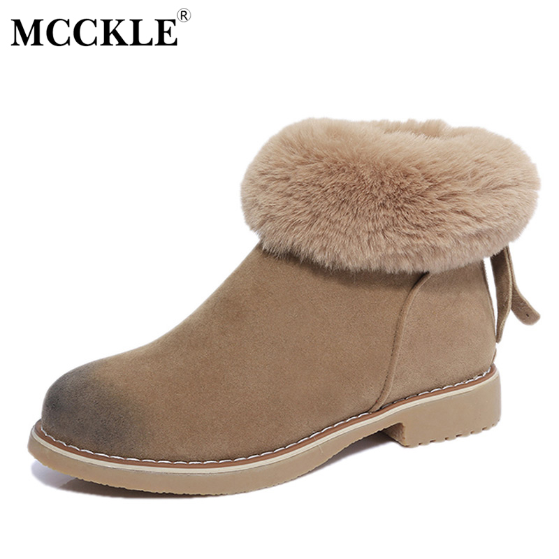 MCCKLE 2017 Women Winter Zip Ankle Snow Boots Female Fashion Warm Plush Fur Platform Black High Quality Suede Thick Heel Shoes роутеры tp link n300 многофункциональный wi fi роутер tl wr842n