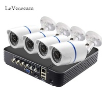 CCTV Camera System 4CH 720P/1080P AHD security Camera DVR Kit CCTV waterproof Outdoor home Video Surveillance System HDD