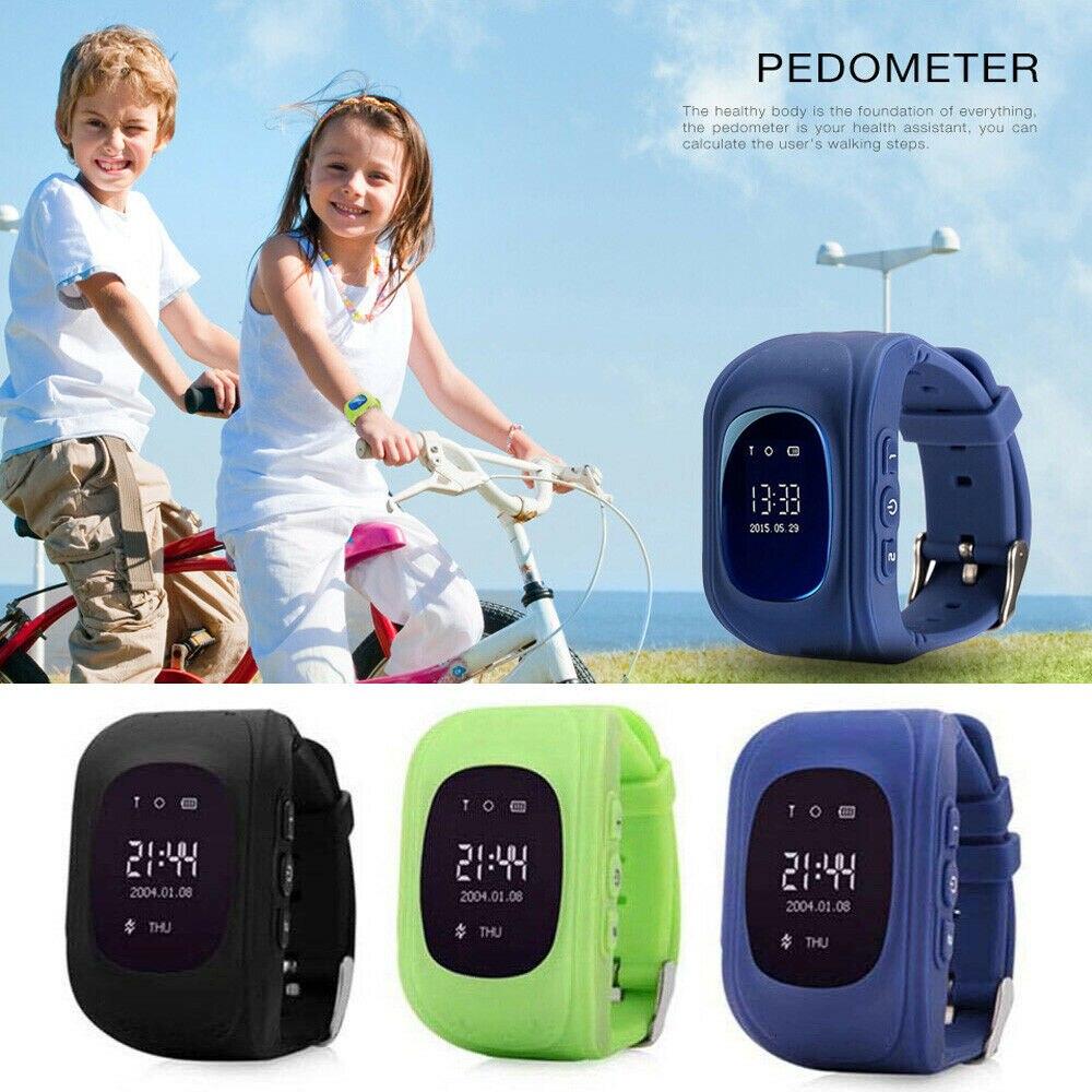 Q50 Kids LBS  Anti-Lost Smart Watch Telephone SOS Tracker Display Wristwatch New