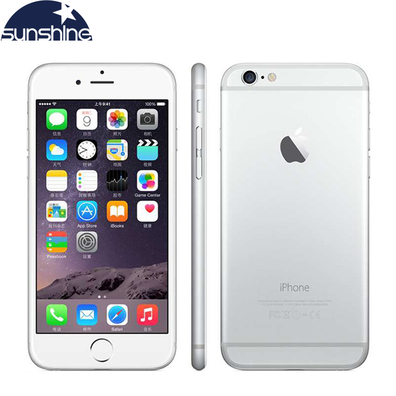 "Unlocked Original Apple iPhone 6 Mobile Phone 4.7"" 8.0 MP Camera Dual Core 16/64/128GB ROM Cell Phones"