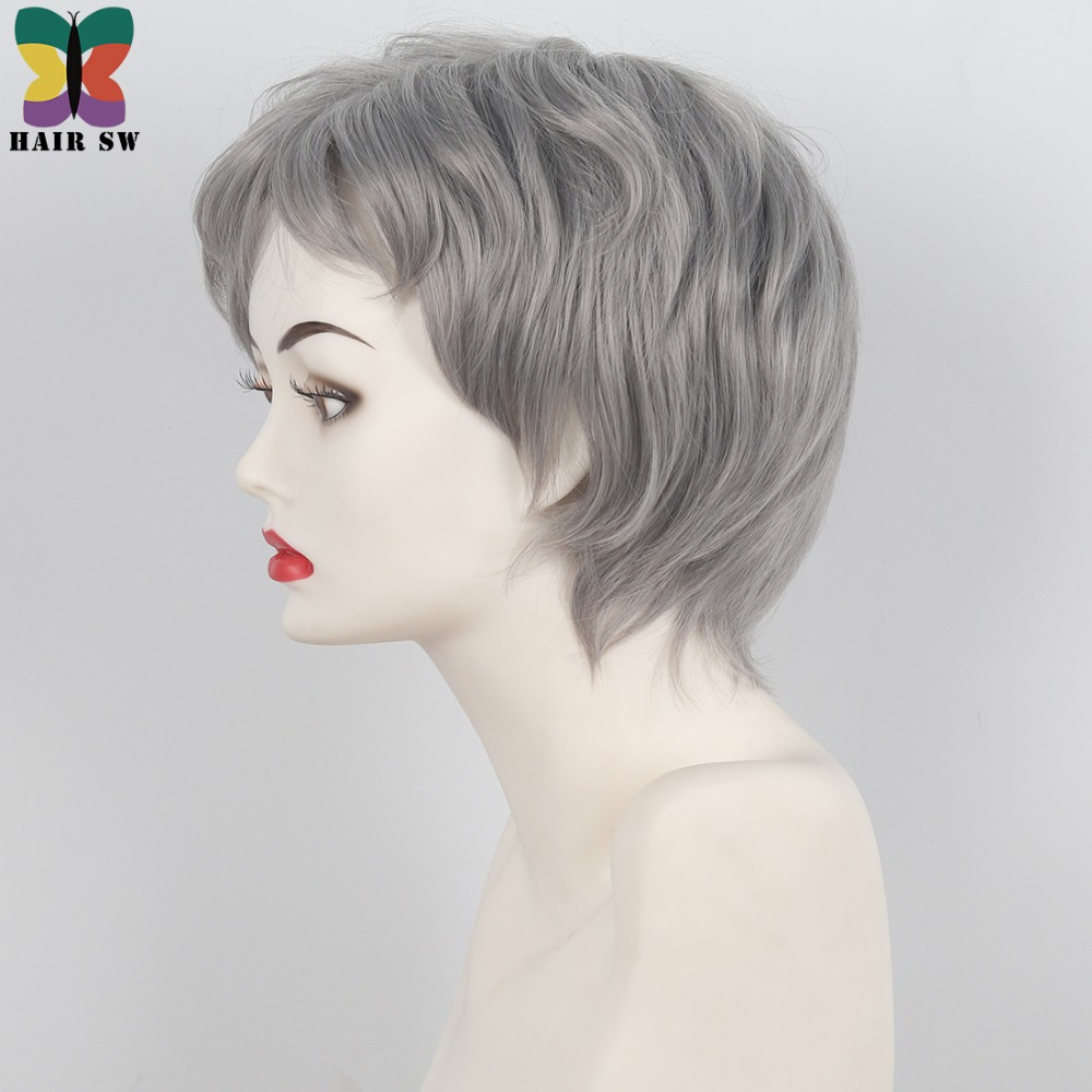 Grey Kwacha Layered wigs 4