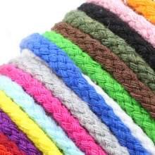 5mm*95m Cord color woven cotton rope diy cotton string pockets draw rope hanging tapestry crochet hand-bag bundles