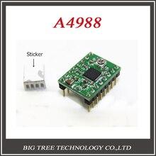 5 шт. 3D принтер Bigtree4988 шагового двигателя привода MAX2A с радиатором совместим с A4988 Stepstick поддержка МАКС 128 микро шаг