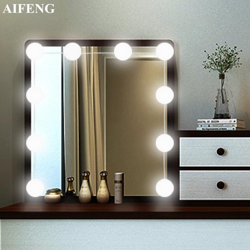 Hollywood Style E27 Vanity lights wall mounted plug in bathroom ...
