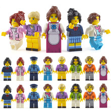 LegoINGlys Minifigure 16pcs/lot Building Blocks Figures bricks DIY Toys Police Soldier Occupations Mini People for Girls Gift(China)