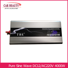 Инвертор 4000 Вт Чистая Синусоидальная волна инвертор DC 12 В в AC 220 В автомобильный преобразователь солнечной энергии инвертор пиковая мощность 8000 Вт