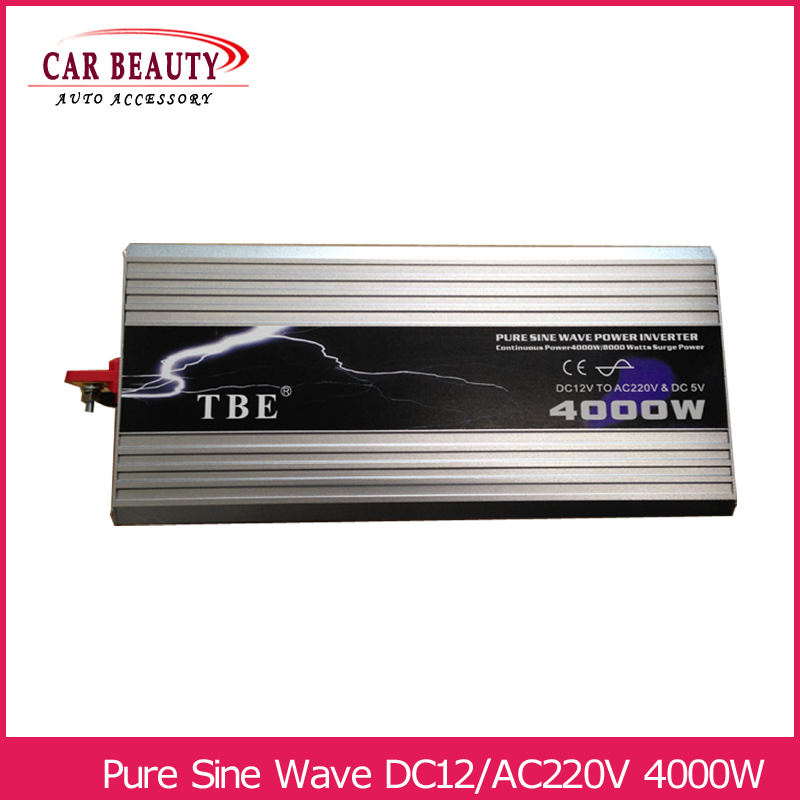 цена на Power Inverter 4000W Pure Sine Wave Inverter DC 12V to AC 220V Car Converter Solar Power Inverter Peak Power 8000W
