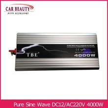 цена на Power Inverter 4000W Pure Sine Wave Inverter DC 12V to AC 220V Car Converter Solar Power Inverter Peak Power 8000W