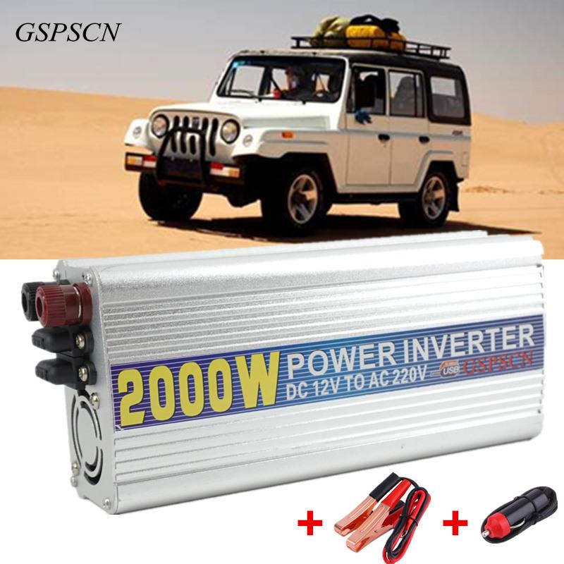 Prix pour GSPSCN Voiture-Chargeur Convertisseur DC Inverter 12 V à AC 220 V Power Inverter Adaptateur Convertisseur Transformateur Chargeur De Voiture Fit ci-dessous 800 W