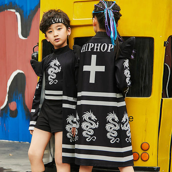 New Kids Jazz Dance Costumes Boys & Girls Street Dance Clothes Child Hiphop Suit Catwalk Show Stage Clothing Rave Outfit DQL705