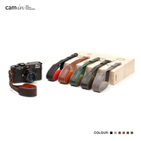cam in 3051 3056 Italy Cowskin Camera Wrist Strap Cowhide Leather DSLR spire lamella Hand Belt Photography Accessory 6 colors
