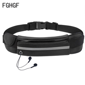 Waterproof Running Waist Bag Canvas Sports Jogging Portable Outdoor Phone Holder Belt Bag Women Men Fitness Sport Accessories