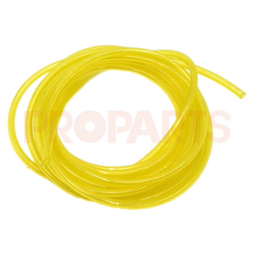 5M Fuel Gas Line Pipe Hose 3.0mm x 5mm yellow Fit For Brush Cutter Trimmer Chainsaw Blower Small Engine 6617 fuel gas line pipe hose for poulan craftsman weedeater 530069216 trimmer chainsaw blower yellow fuel line 2 5mm x 10m