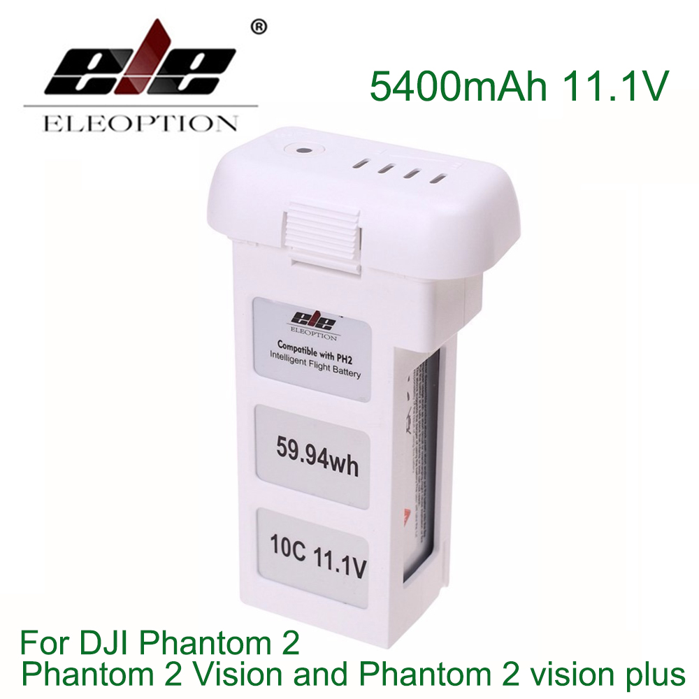 ELE ELEOPTION 5400mAh 11.1V Upgraded Battery for DJI Phantom 2 Phantom 2 Vision and Phantom 2 vision plus 4 pairs 9 9443 self tightening propeller prop for dji phantom 2 vision plus