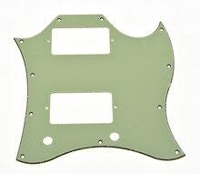 KAISH SG Standard Full Face Guitar Pickguard Scratch Plate Mint Green with Screws