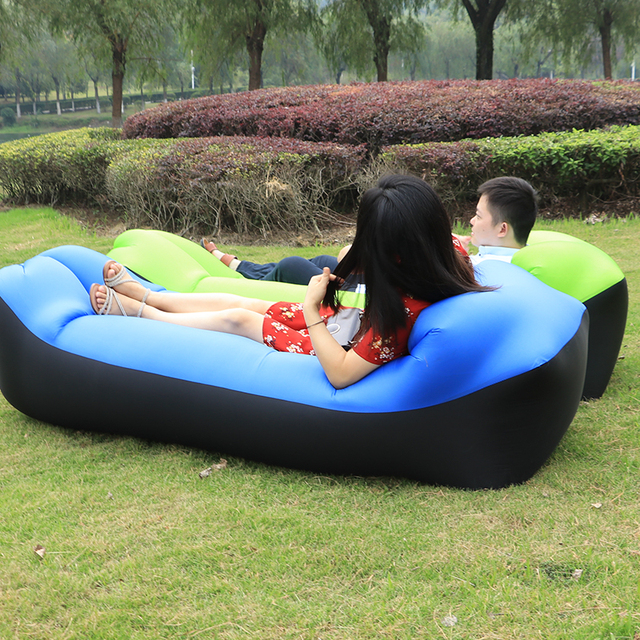 Inflatable Camping Chair White Saucer Target High Quality Travel Outdoor Air Sofa Sleeping Bag Hiking Portable Beach Lounge Banana Lazy