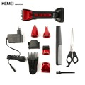 Kemei Rechargeable 5 In 1 Electric Hair Trimmer Washable Professional Shaver Razor Cordless Adjustable Hair Clipper KM-8058