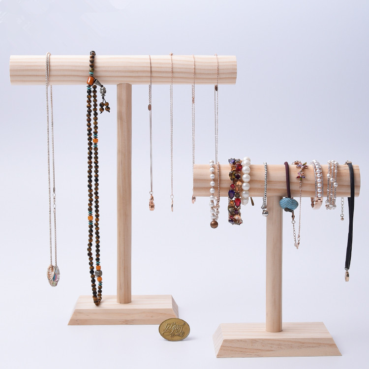 Solid Wood New Fashion Necklace Chain Display Holder Jewelry Display Riser Bracelets Display Stand Jewelry Packaging Display Aliexpress