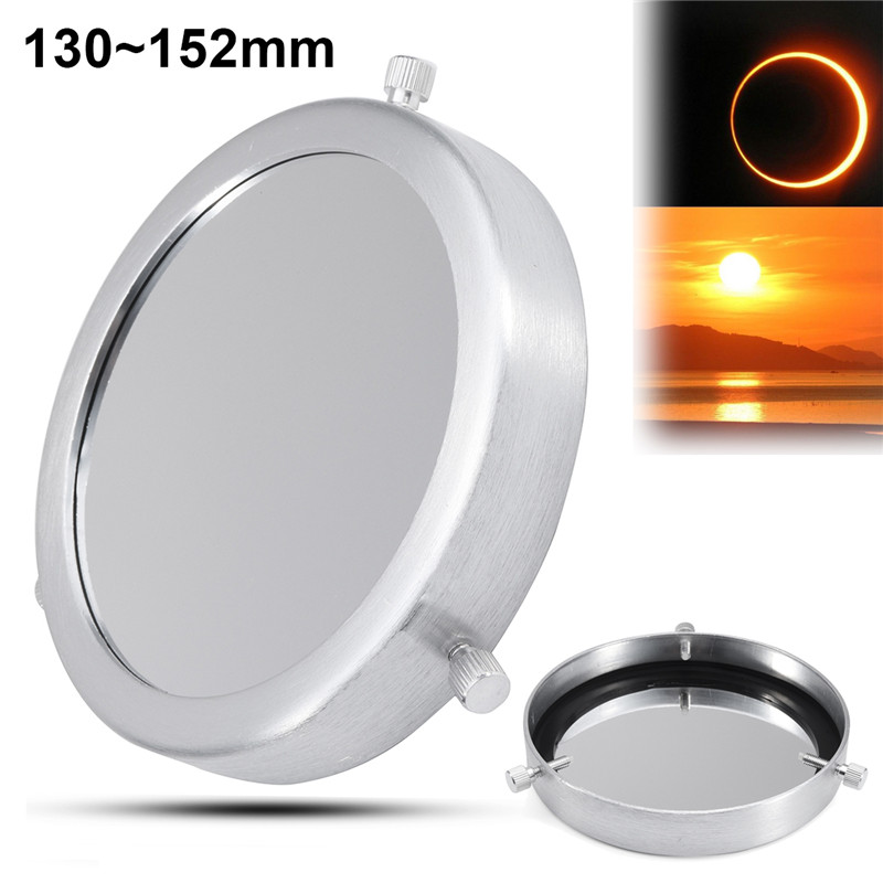 New Arrival 1 Pcs 130~152 mm Silver Solar Filter Baader Film Metal Cover Accessories For Astronomical Telescope Objective Lens black polymer solar filter for telescope fits starhopper 6