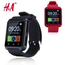 Smartwatch Bluetooth Inteligente Reloj Reloj digital relojes deportivos para IOS Android Samsung teléfono A8 Dispositivo Electrónico Portátil