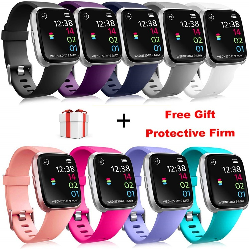 Replacement Band For Fitbit Versa/Versa Lite Strap With Screen Protector Silicone Bracelet  Accessories For Fit Bit Versa Band